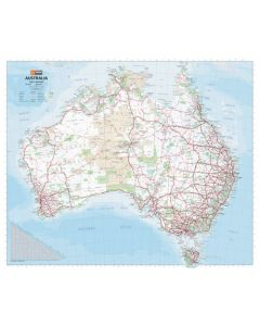australia handy map laminated 610 x 750mm