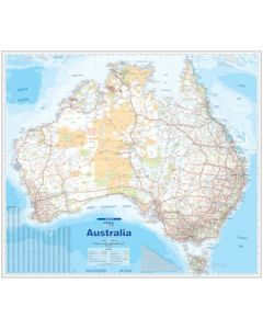 Australia Supermap - Laminated 1200 X 1370 mm