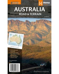 Australia Road & Terrain - Folded 875 X 1000 mm