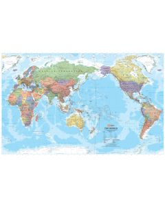 World Map - Laminated 1000 X 635mm